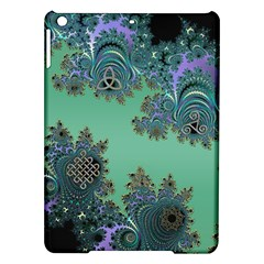 Celtic Symbolic Fractal Design in Green Apple iPad Air Hardshell Case by UROCKtheWorldDesign