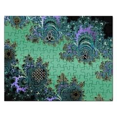 Celtic Symbolic Fractal Jigsaw Puzzle (Rectangle) by UROCKtheWorldDesign