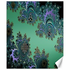 Celtic Symbolic Fractal Canvas 8  X 10  (unframed) by UROCKtheWorldDesign
