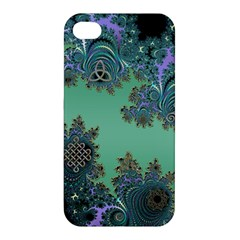 Celtic Symbolic Fractal Apple Iphone 4/4s Hardshell Case by UROCKtheWorldDesign