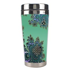 Celtic Symbolic Fractal Stainless Steel Travel Tumbler