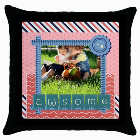 Kids By Kids   Throw Pillow Case (black)   Oozohphcvk94   Www Artscow Com Front