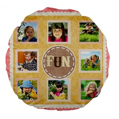 Kids By Kids   Large 18  Premium Round Cushion    Hifwm0zhqj5w   Www Artscow Com Back
