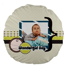 Kids By Kids   Large 18  Premium Round Cushion    7bbed6ekrxb7   Www Artscow Com Back