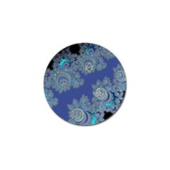 Blue Metallic Celtic Fractal Golf Ball Marker 4 Pack