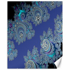 Blue Metallic Celtic Fractal Canvas 16  X 20  (unframed) by UROCKtheWorldDesign