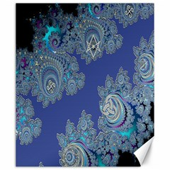 Blue Metallic Celtic Fractal Canvas 20  X 24  (unframed) by UROCKtheWorldDesign