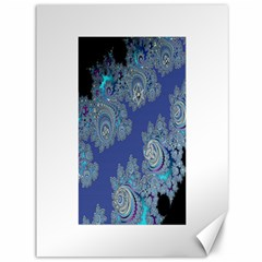 Blue Metallic Celtic Fractal Canvas 36  x 48  (Unframed)