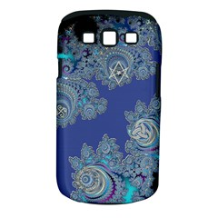 Blue Metallic Celtic Fractal Samsung Galaxy S Iii Classic Hardshell Case (pc+silicone) by UROCKtheWorldDesign