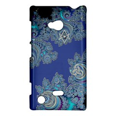 Blue Metallic Celtic Fractal Nokia Lumia 720 Hardshell Case by UROCKtheWorldDesign
