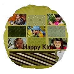 Kids By Kids   Large 18  Premium Round Cushion    Lqcge0pclvjx   Www Artscow Com Front