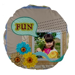 Kids By Kids   Large 18  Premium Round Cushion    N2y0drg375lj   Www Artscow Com Back