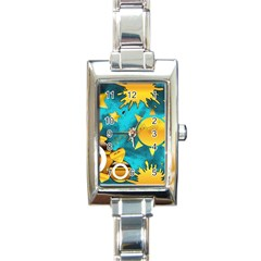 Musical Peace Rectangular Italian Charm Watch by StuffOrSomething