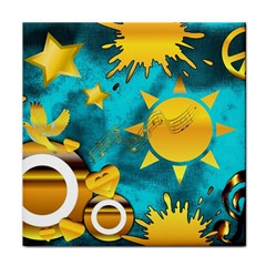 Musical Peace Ceramic Tile by StuffOrSomething