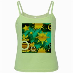 Musical Peace Green Spaghetti Tank by StuffOrSomething