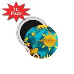 Musical Peace 1 75  Button Magnet (10 Pack) by StuffOrSomething