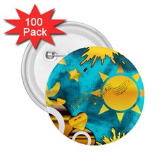 Musical Peace 2 25  Button (100 Pack)