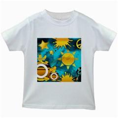 Musical Peace Kids T Shirt (white)