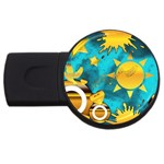 Musical Peace 2GB USB Flash Drive (Round) Front