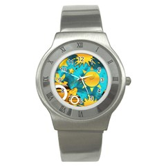 Musical Peace Stainless Steel Watch (slim) by StuffOrSomething