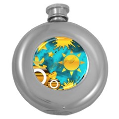 Musical Peace Hip Flask (round) by StuffOrSomething