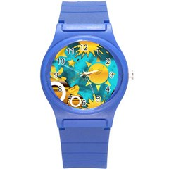 Musical Peace Plastic Sport Watch (small) by StuffOrSomething
