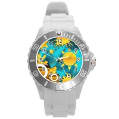 Musical Peace Plastic Sport Watch (large) by StuffOrSomething