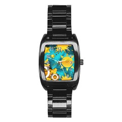 Musical Peace Stainless Steel Barrel Watch by StuffOrSomething