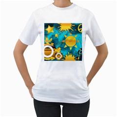 Musical Peace Women s T Shirt (white)