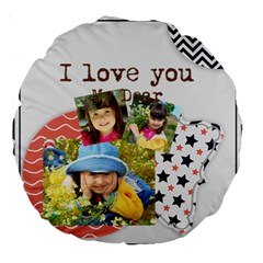 Kids By Kids   Large 18  Premium Round Cushion    L4pgrehqaock   Www Artscow Com Back