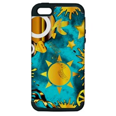 Musical Peace  Apple Iphone 5 Hardshell Case (pc+silicone) by StuffOrSomething