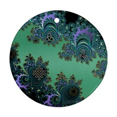 Celtic Symbolic Fractal Round Ornament by UROCKtheWorldDesign