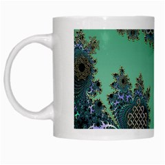 Celtic Symbolic Fractal White Coffee Mug by UROCKtheWorldDesign