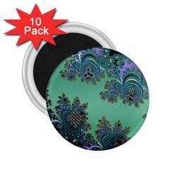 Celtic Symbolic Fractal 2 25  Button Magnet (10 Pack) by UROCKtheWorldDesign