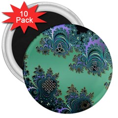 Celtic Symbolic Fractal 3  Button Magnet (10 Pack) by UROCKtheWorldDesign