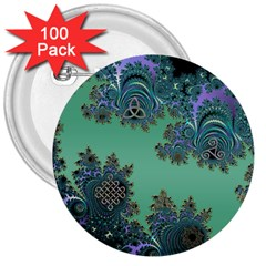 Celtic Symbolic Fractal 3  Button (100 Pack) by UROCKtheWorldDesign