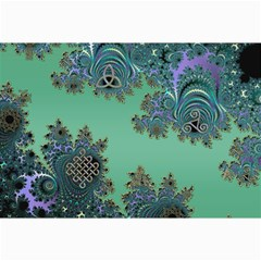 Celtic Symbolic Fractal Canvas 12  X 18  (unframed) by UROCKtheWorldDesign