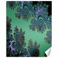 Celtic Symbolic Fractal Canvas 11  X 14  (unframed) by UROCKtheWorldDesign