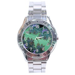 Celtic Symbolic Fractal Stainless Steel Watch by UROCKtheWorldDesign
