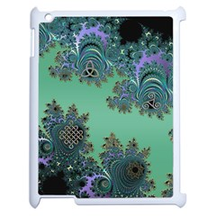 Celtic Symbolic Fractal Apple Ipad 2 Case (white) by UROCKtheWorldDesign