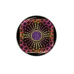 Hot Lavender Celtic Fractal Framed Mandala Golf Ball Marker 10 Pack (for Hat Clip) by UROCKtheWorldDesign