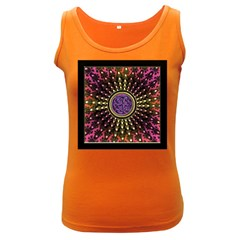 Hot Lavender Celtic Fractal Framed Mandala Women s Tank Top (dark Colored)