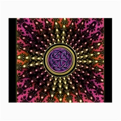 Hot Lavender Celtic Fractal Framed Mandala Glasses Cloth (small, Two Sided) by UROCKtheWorldDesign