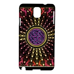Hot Lavender Celtic Fractal Framed Mandala Samsung Galaxy Note 3 N9005 Hardshell Case by UROCKtheWorldDesign