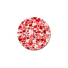 Pretty Hearts  Golf Ball Marker by Colorfulart23