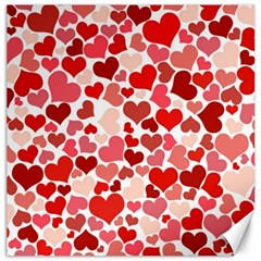 Pretty Hearts  Canvas 20  X 20  (unframed) by Colorfulart23