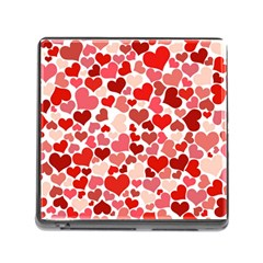 Pretty Hearts  Memory Card Reader With Storage (square)