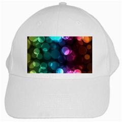 Deep Bubble Art White Baseball Cap by Colorfulart23