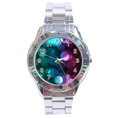 Deep Bubble Art Stainless Steel Watch by Colorfulart23