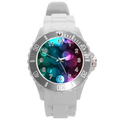 Deep Bubble Art Plastic Sport Watch (large) by Colorfulart23